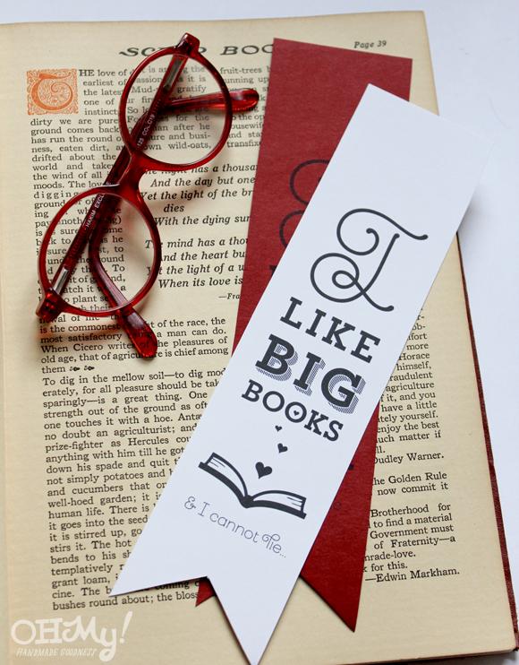 I Like Big Books Printable Bookmarks