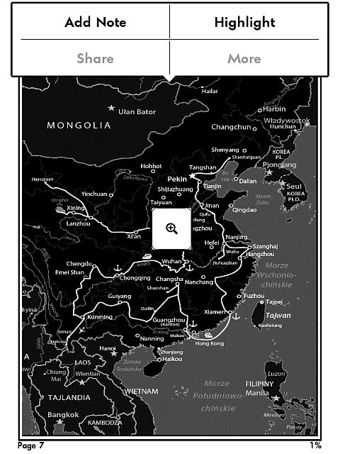 W czytniku Kindle można powiększać ilustracje