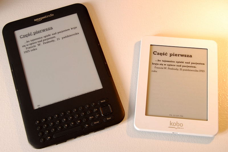 Kindle Keyboard 3 3G i Kobo Mini