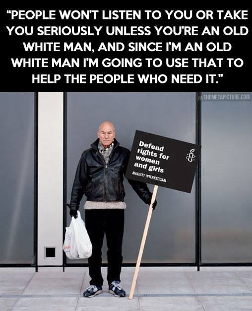 Patrick Stewart for Amnesty International