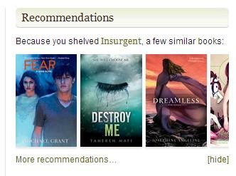 Destroy Me?!  NO!  Bad Goodreads Recs!  Bad!!