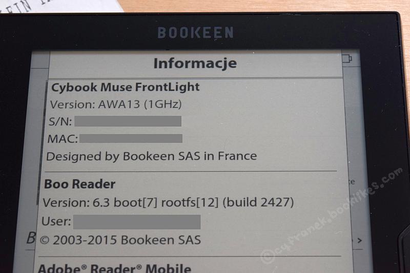 Cybook Muse Frontlight - napędzany przez Boo Reader