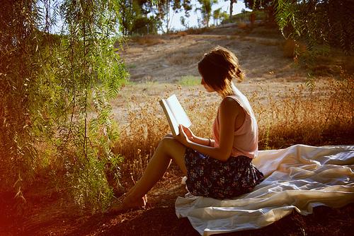 Outside reading.