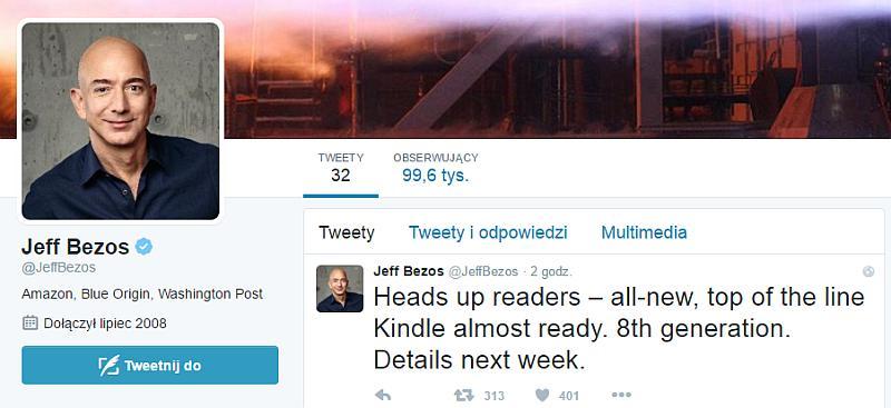 Nowe Kindle zapowiedziane na Twitterze
