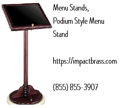 Brass menu stands | Portable menu stand