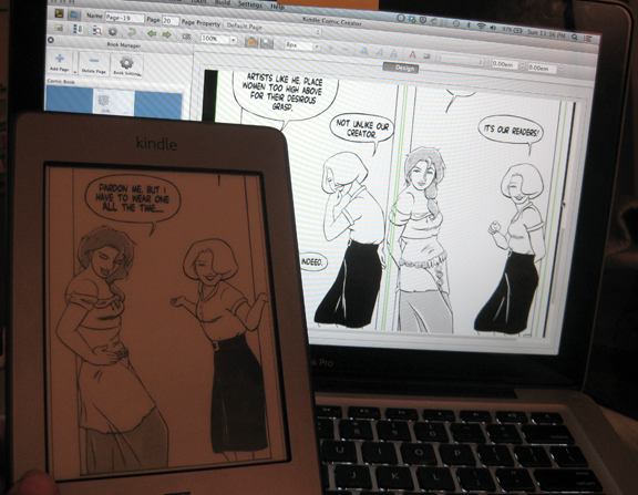 Making Charm School Kindle comics with the Kindle Comicbook Creator