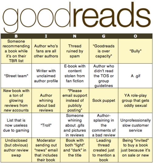 Goodreads Bingo!