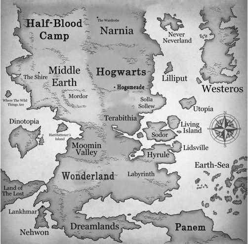 Literary worlds :-)
