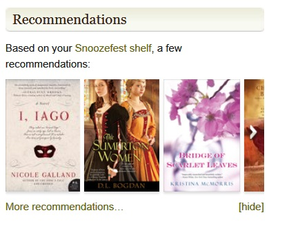 Oh those GR recommendations