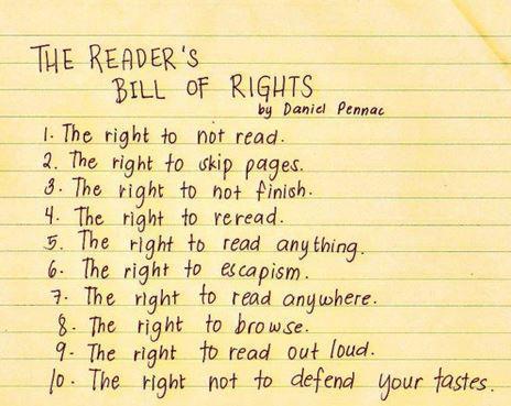Reader's Bill of Rights