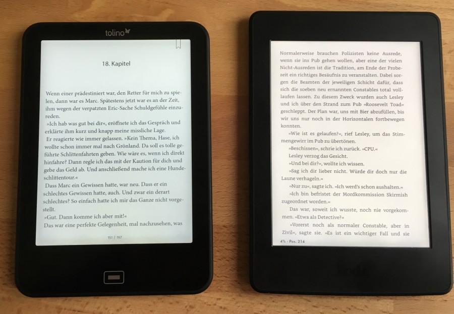 Tolino Vision 3 HD i Kindle Paperwhite 3 (źródło: lesen.net)