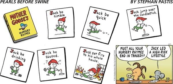Nursery rhyme, fractured