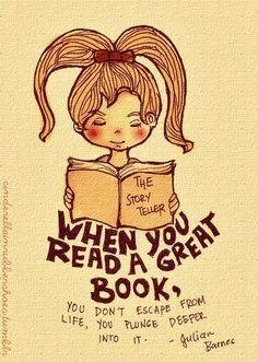 Yes, a great book can take you all kinds of places.