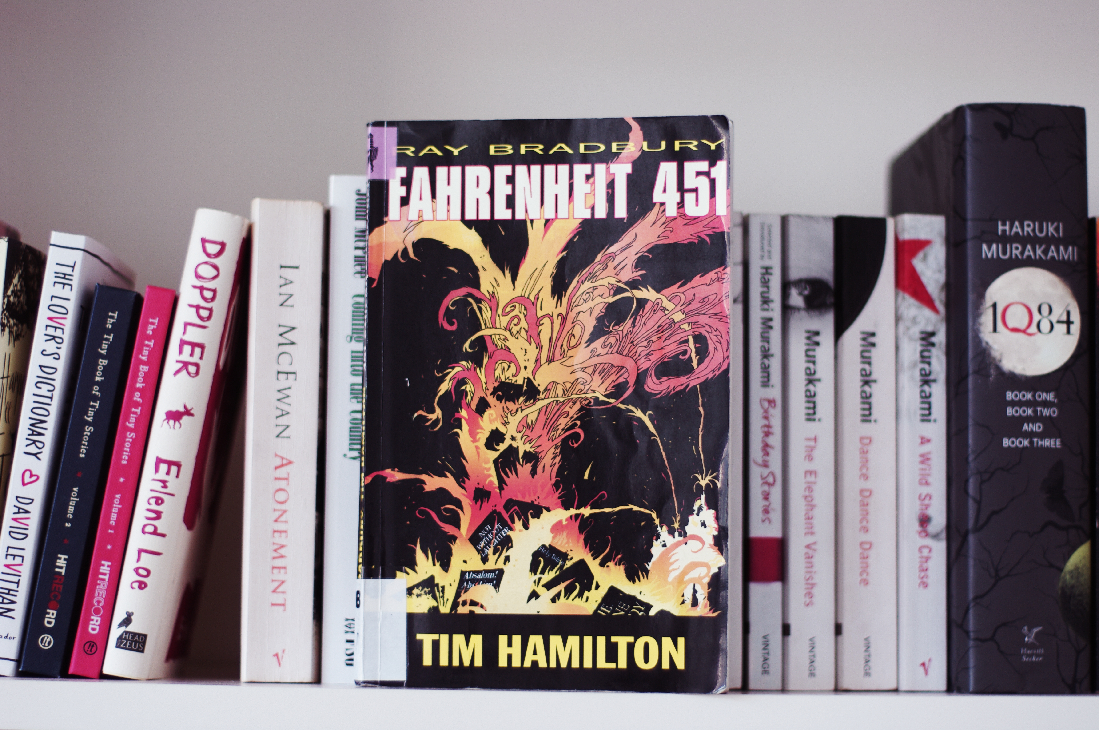 Fahrenheit 451 (Graphic Novel) - A Review - Layla Eats Books For ...