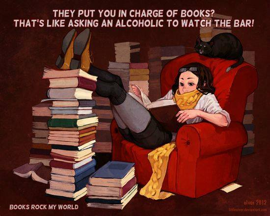 As I keep saying, a bookaholic is the only acceptable and, in fact, laudable -aholic to be.