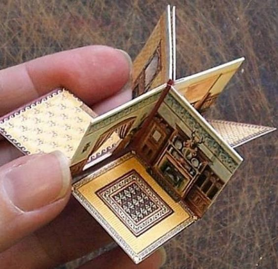 Cute folding house book