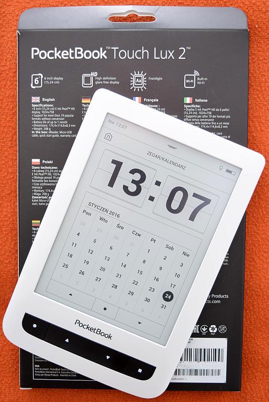 Pudełko i czytnik PocketBook Touch Lux 2