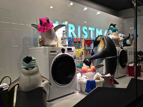 When penguins do laundry