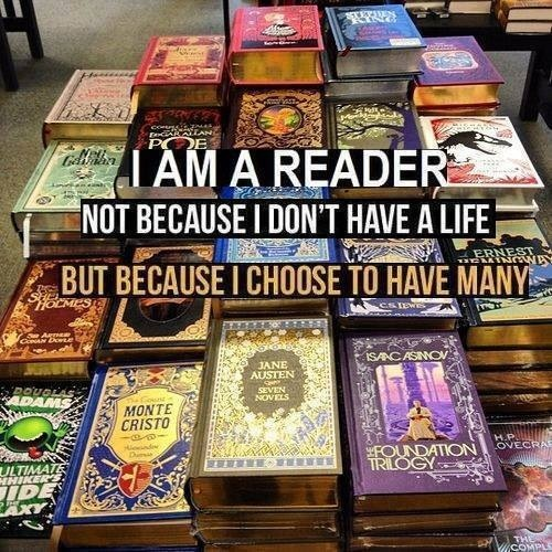 I believe this but without books I wouldn't have much of a life ;-)
