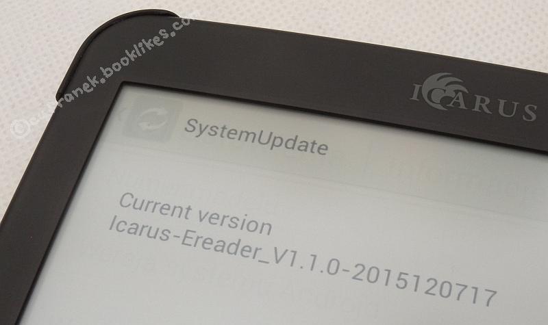 Pierwotna wersja firmware czytnika Icarus Illumina XL