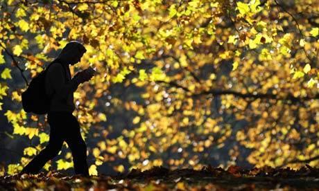 reading while walking