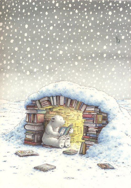 We've already got the snow and I have piles of books and a cozy fireplace so I'm set for the winter!