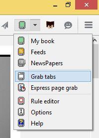 Dzięki GrabMyBooks można strony WWW przesyłać do chmury Tolino