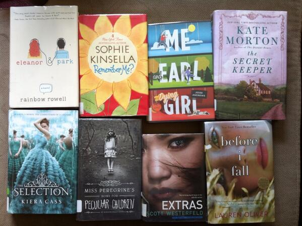 Lots of books from the library! I'm so excited to read these! :) I've been obsessed with the library lately!!
