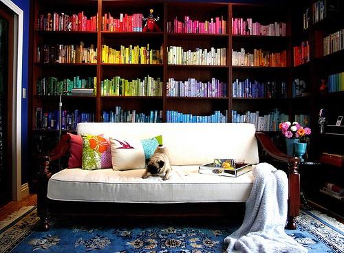 Pretty rainbow library. :)