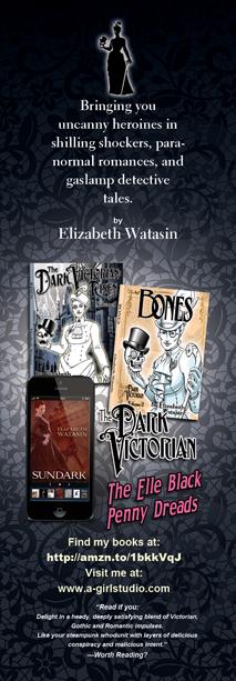 2014 bookmark design, 2x6, the Dark Victorian side.