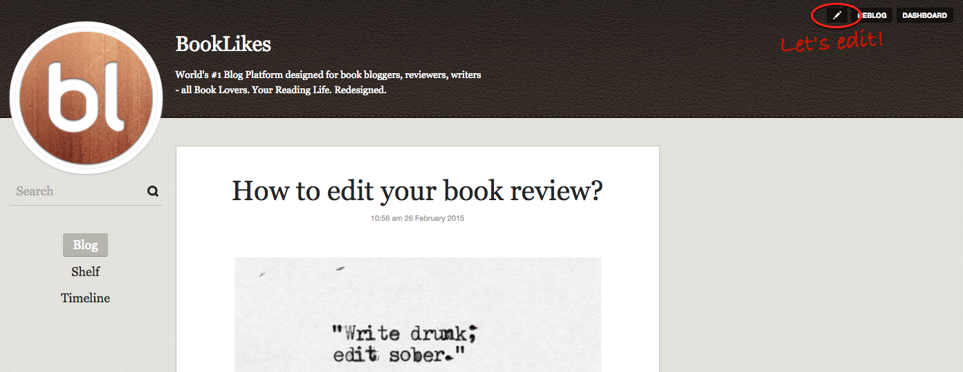 how to write a book review blog post