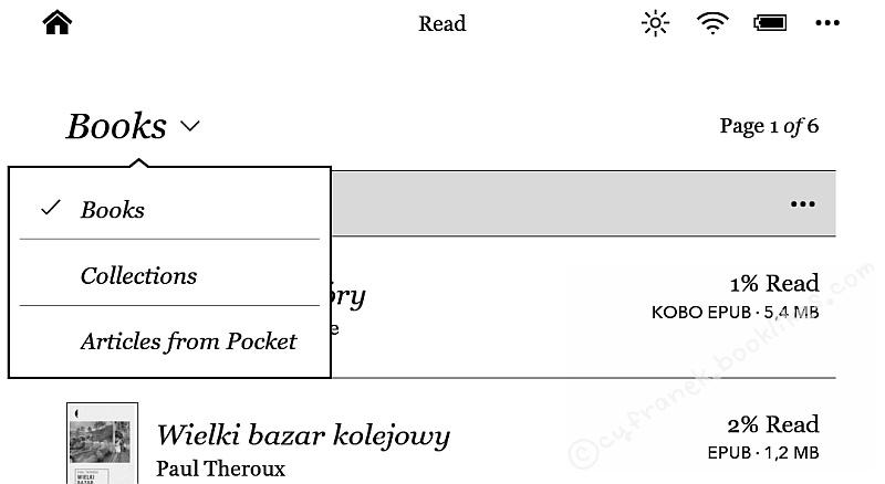 Kobo Aura H2O - biblioteczka