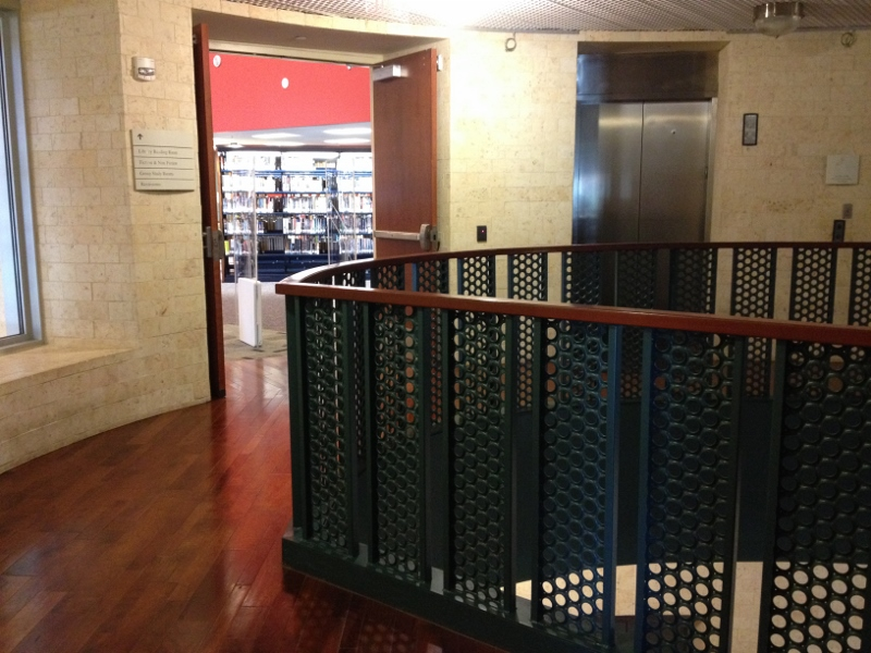 Library entry 4th floor