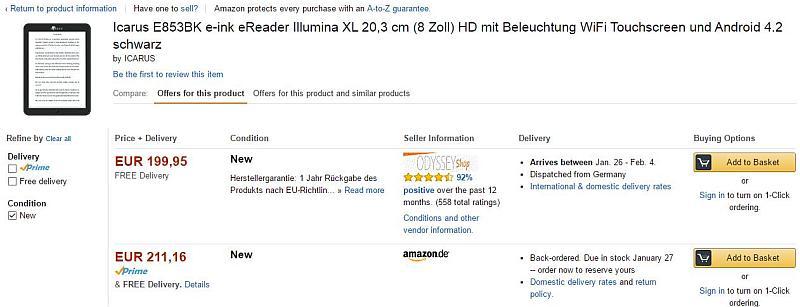 Icarus Illumina XL w amazon.de