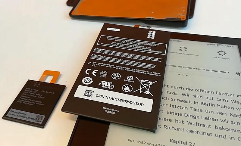 Baterie w Kindle Oasis i okładce