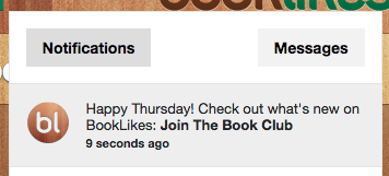 What's new on BookLikes notification