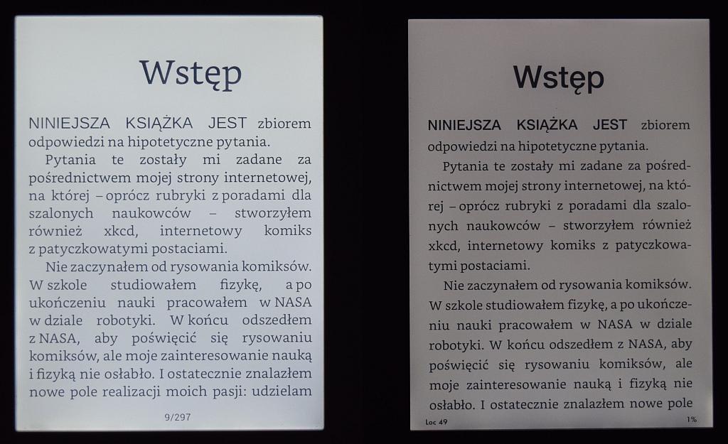 Oświetlenie w Kindle Paperwhite 3 i PocketBook Touch Lux 2