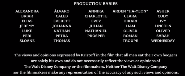 Do you read the movie credits?