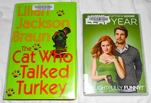 the cat who talked turkey hardcover and leap year dvd