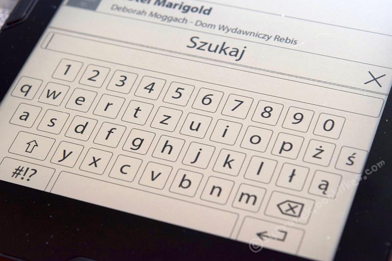 Cybook Muse Frontlight - klawiatura ekranowa
