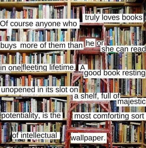 Here is how I justify my book collection