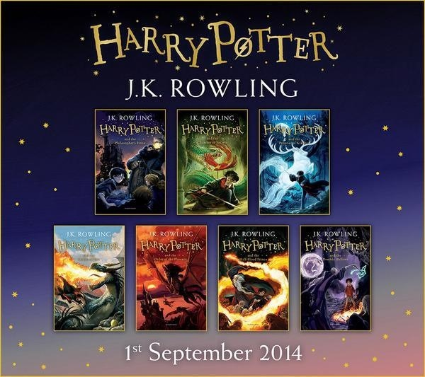 New Harry Potter covers from Bloomsbury UK