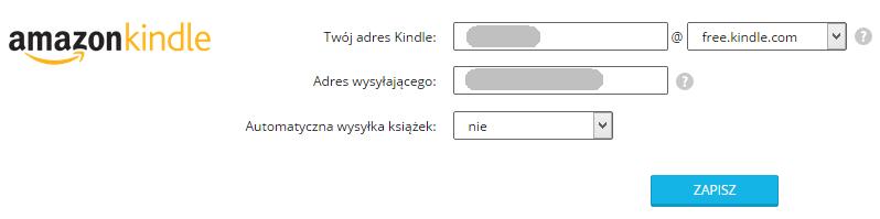 Wysyłka na Kindle z woblink.com