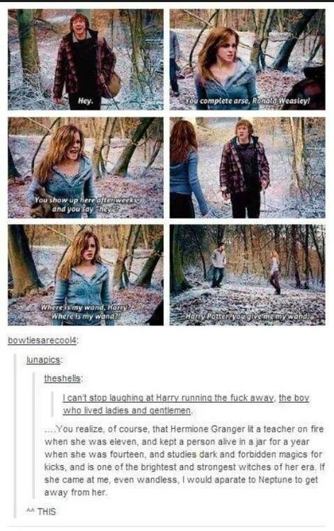 Hermione Granger, everyone.