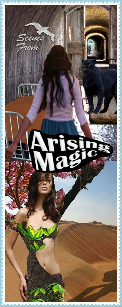 Two scenes from Arising Magic