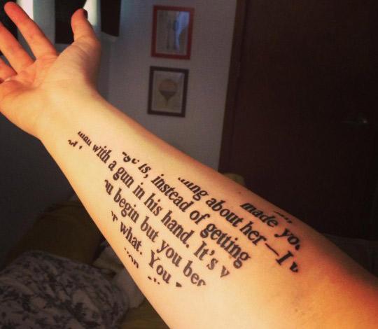 Tattoo for book maniac