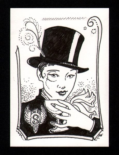 Molly Kiely draws Artifice of The Dark Victorian series as Anna May Wong