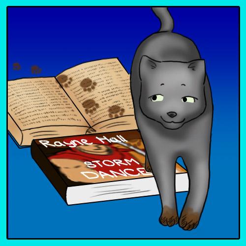 Cat - Book - Paws :-)