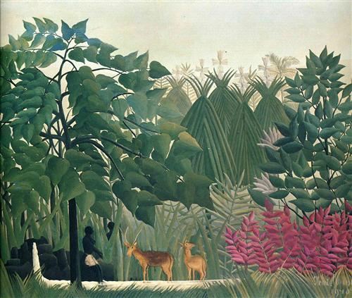 Henri Rousseau - Chute d'eau, 1910