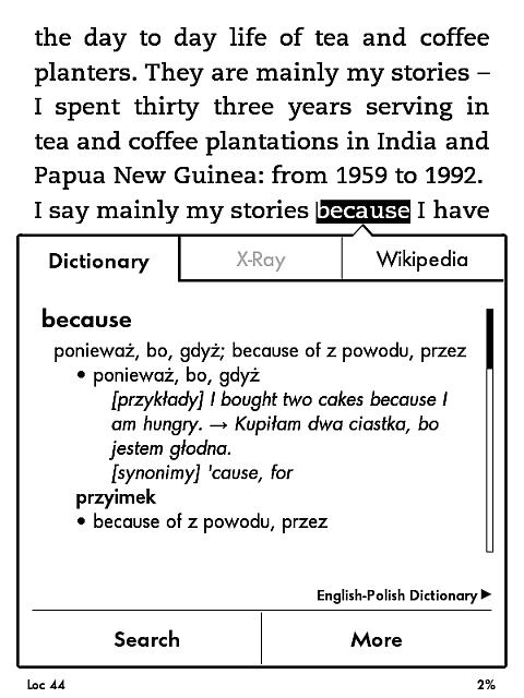 Tłumaczenie w BuMato w Kindle 7